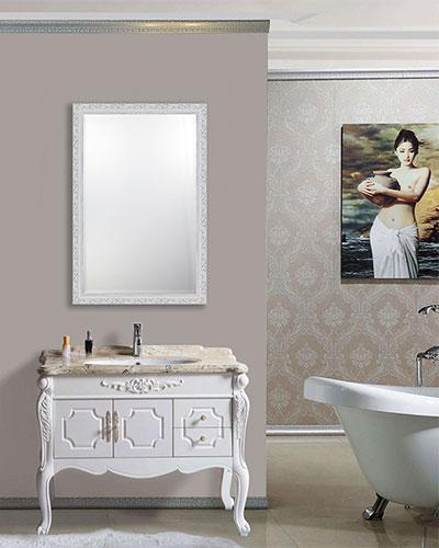 Beveled Rectangle Bathroom Mirror