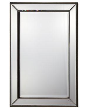 Espejo de pared rectangular con marco mdf yingfeng for Espejo rectangular con marco de madera