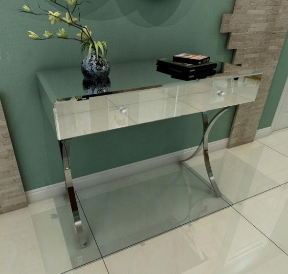 Mirror Glass Decorative Entryway Table